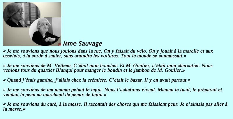 Phrases Mme Sauvage
